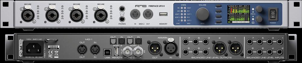 Das UFX II von RME bietet viele Anschlüsse und hervorragende Treiber