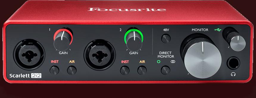 Das Scarlett 2i2 von Focusrite bietet alle essentiellen Funktionen und wird mit einem soliden Softwarepaket für elektronische Musikproduktion ausgeliefert