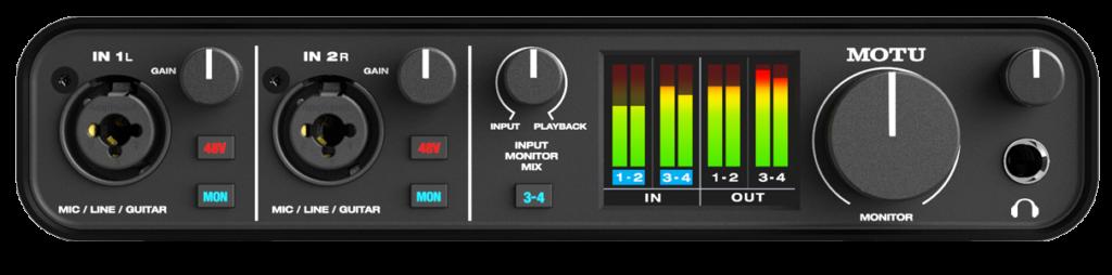 Ideal für kleinere Studios mit ein oder zwei Hardware-Geräten: Das M4 Audio Interface von MOTU