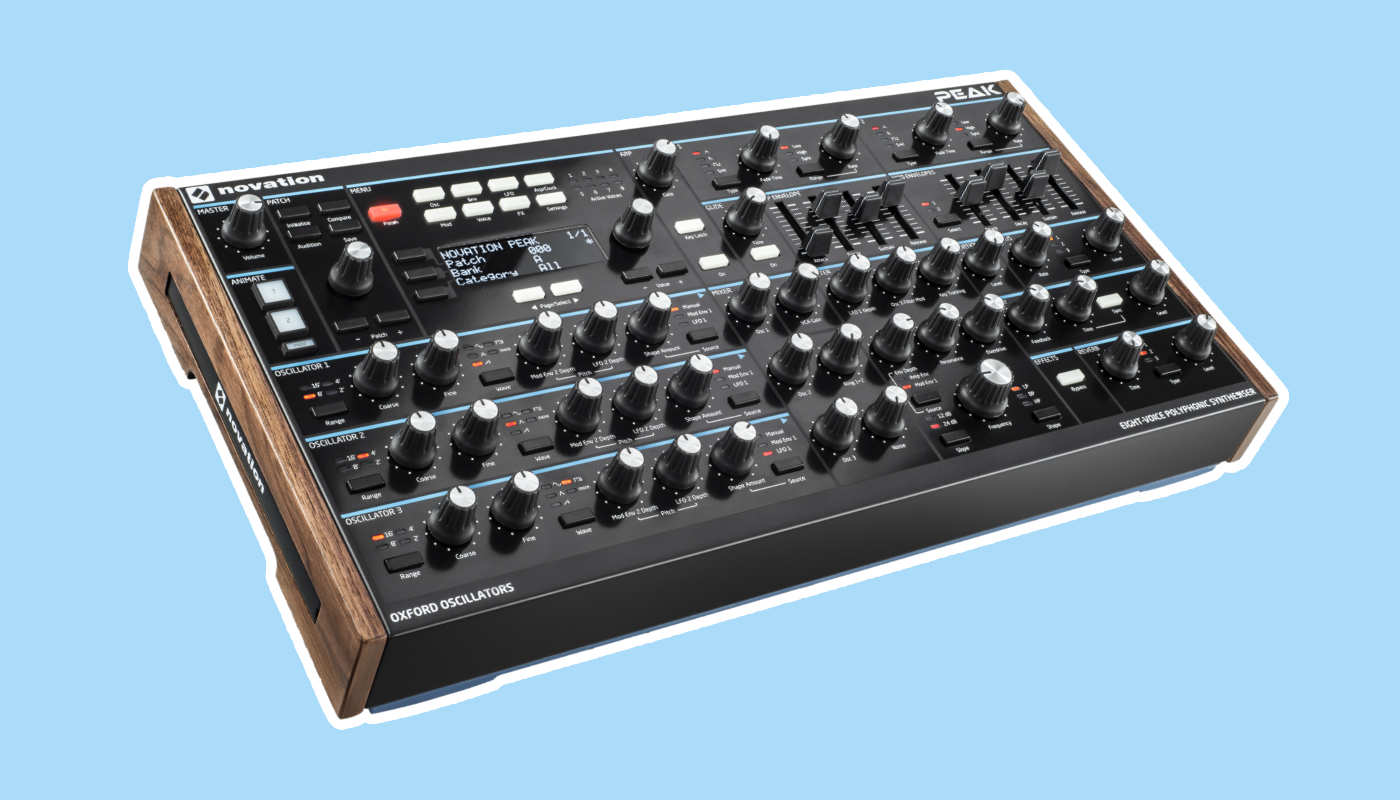 Novation Peak Patches für Techno, Ambient und Electronica.
