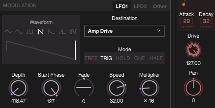 Drive Parameter bei Elektron Digitone fürs Sounddesign nutzen