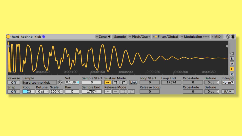 Techno Kick erstellen. EQ-Einstellung, Sounddesign und mehr