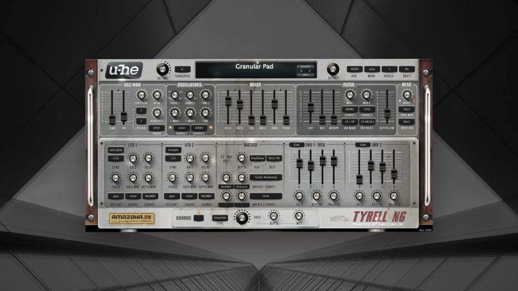 Ambient, Dub und Techno Patches für U-He Tyrell