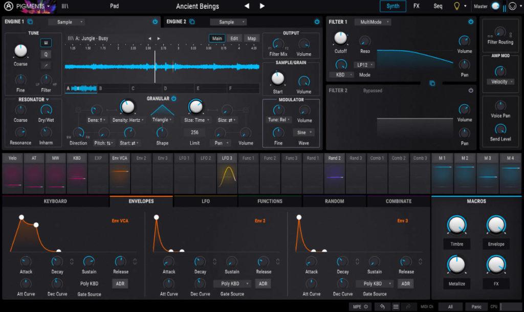 Pigments von Arturia ist ein hervorragend klingender Allrounder für alle Arten elektronischer Musik