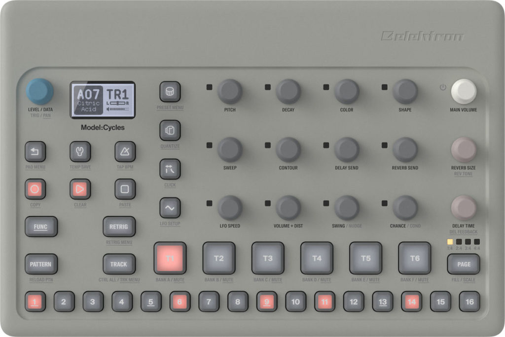 Elektron Model:Cycles ist ein FM Drum synthesizer