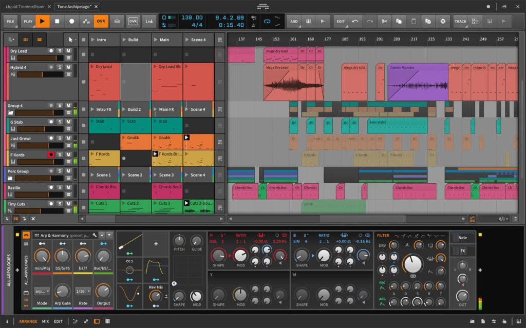 Bitwig Studio ist ideal für elektronische Musik geeignet