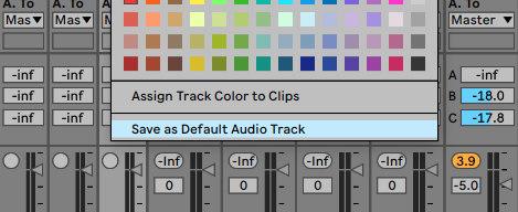 Default MIDI-und Audiotracks sparen Zeit