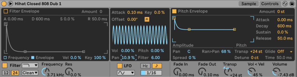 Techno und Ambient mixen. Stereobreite durch Panning