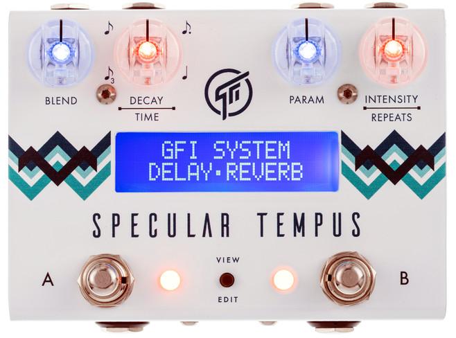 Eine hervorragend klingende Kombination aus Delay und Reverb. Das Specular Tempus von GFI