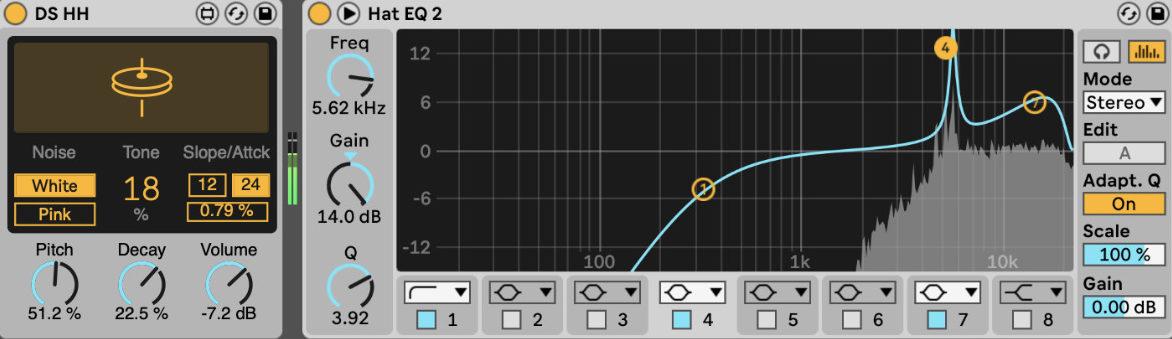 Hi Hat Mixing Tutorial. Störende Frequenzen findet man mit dem EQ recht einfach.