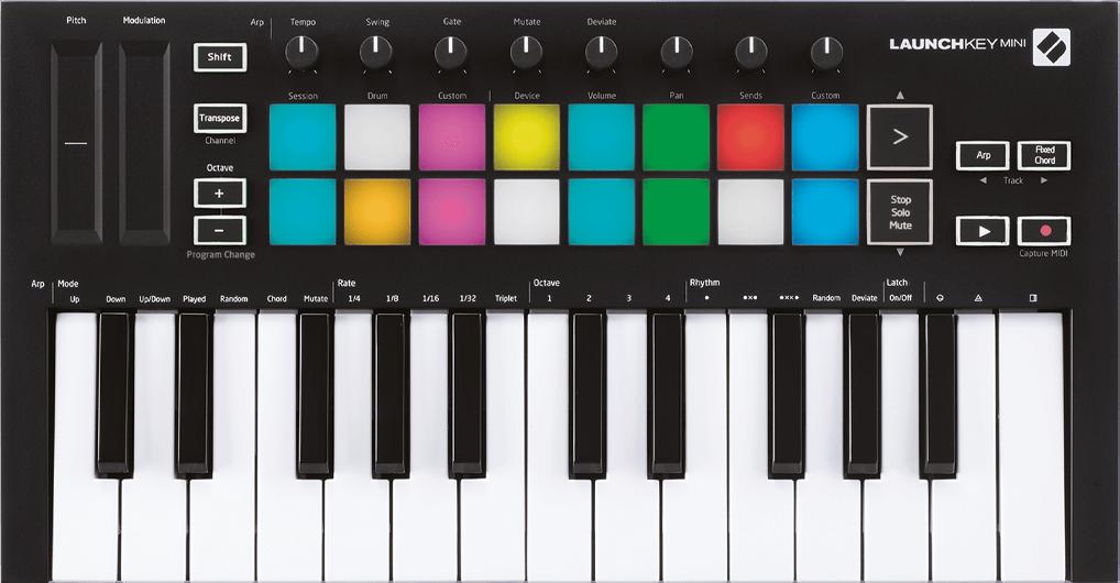 Novation Launch Key Mini MK3. USB Controller für FL Studio