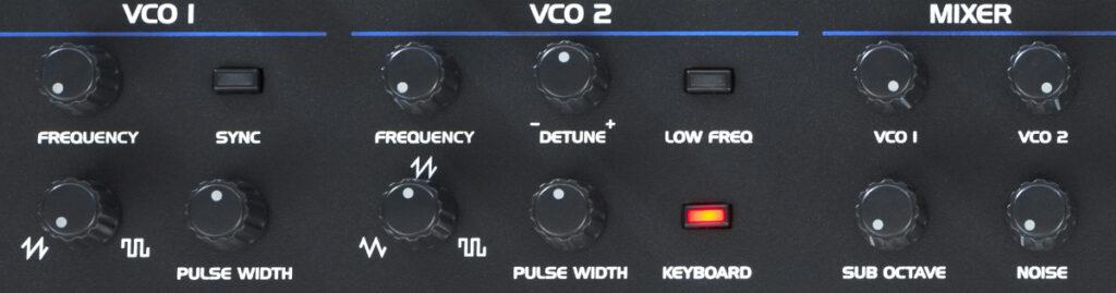 Oberheim OB-6 Test VCO-Sektion und Mixer